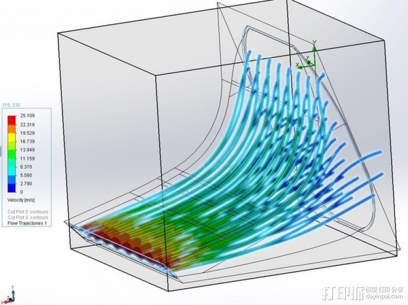 风扇通风导管 3D模型  图9