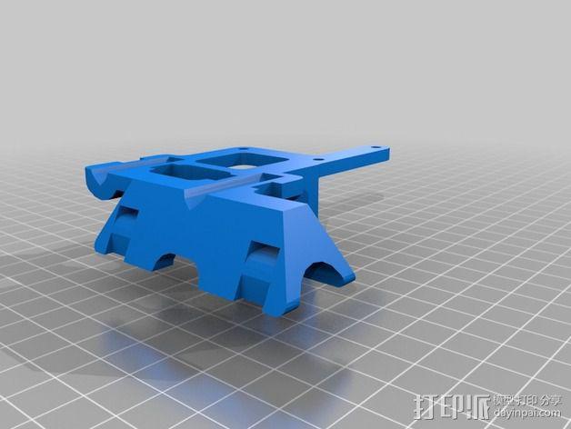 Mix G1打印机X轴部件 3D模型  图2