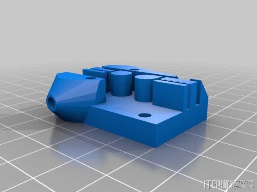 Kossel 打印机皮带固定器 皮带架 3D模型  图1