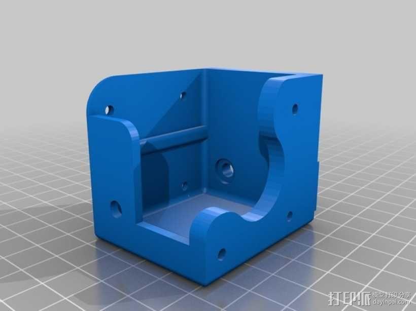 K8200打印机X轴挤出机罩 3D模型  图2
