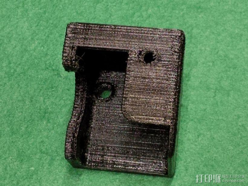 K8200打印机X轴挤出机罩 3D模型  图3