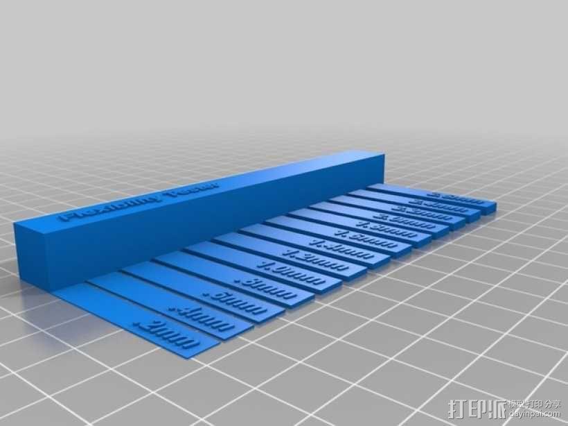 弹性打印测试 3D模型  图2