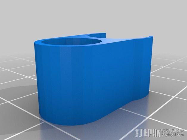 线材夹 线材导轨 3D模型  图2