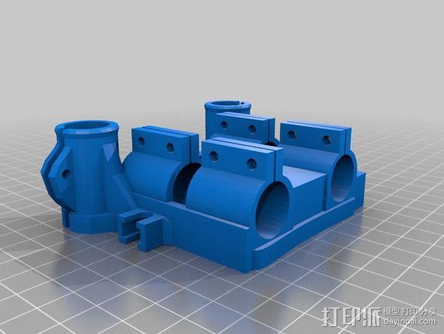轴承安装板  3D模型  图3