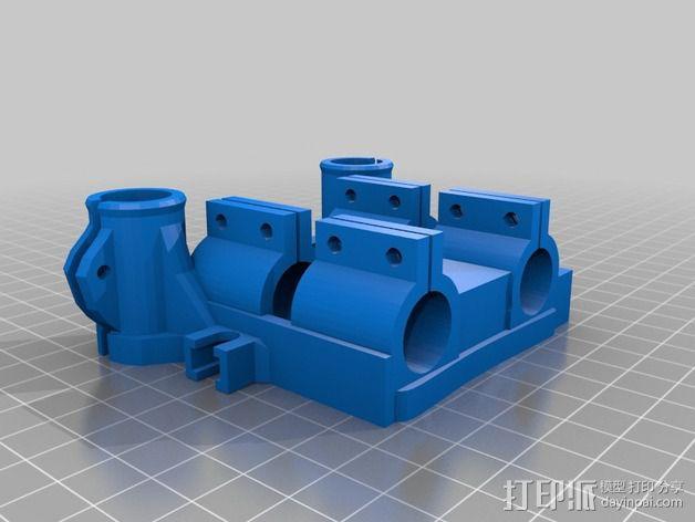 轴承安装板  3D模型  图4