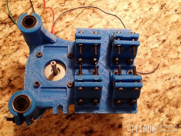 轴承安装板  3D模型  图5