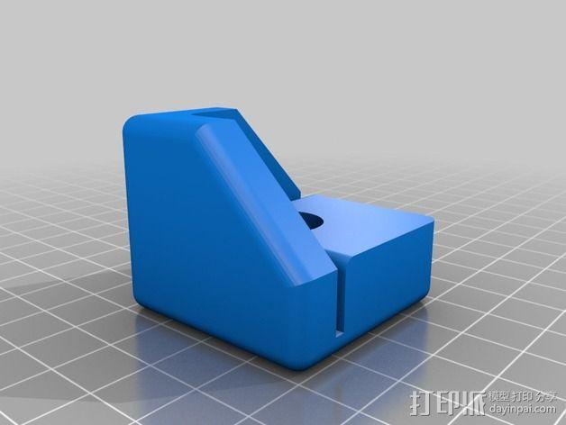 Replicator 2/2X打印机脚垫 3D模型  图2