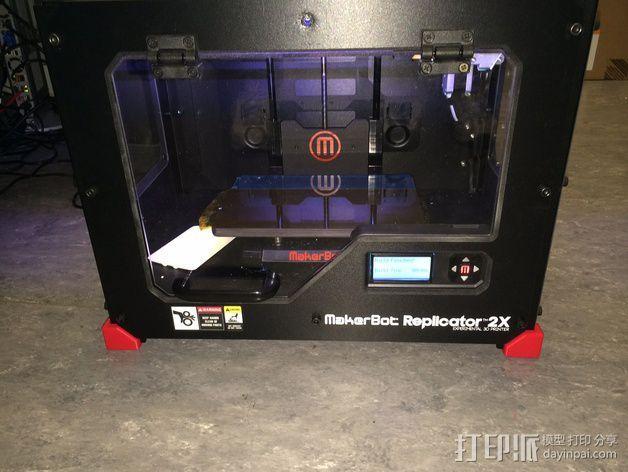 Replicator 2/2X打印机脚垫 3D模型  图4