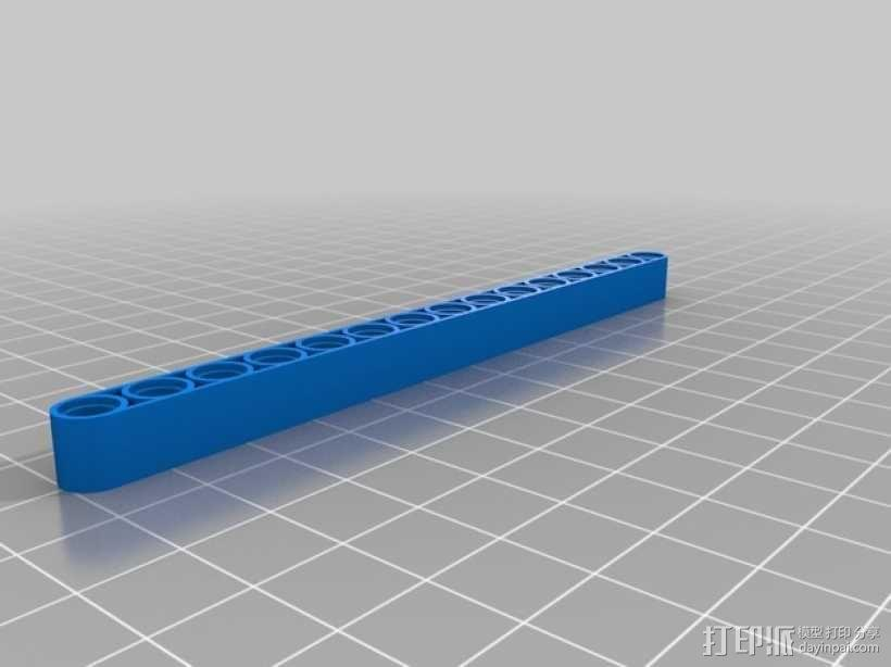 乐高横梁 3D模型  图2