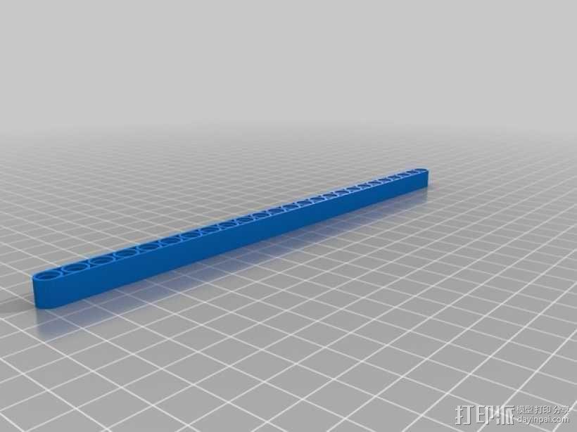乐高横梁 3D模型  图4