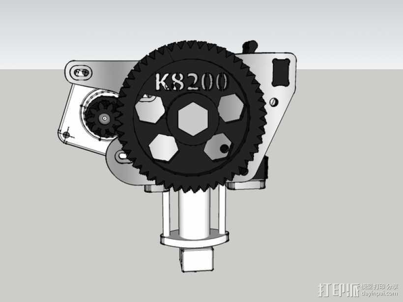 鱼骨齿轮 人字齿轮 3D模型  图1