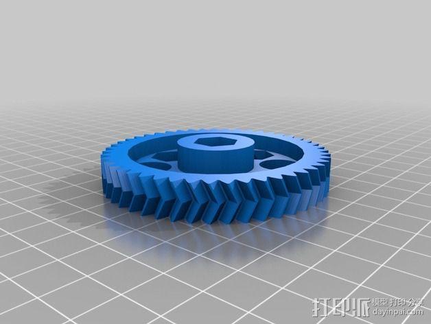 鱼骨齿轮 人字齿轮 3D模型  图5