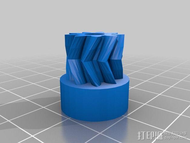 鱼骨齿轮 人字齿轮 3D模型  图8