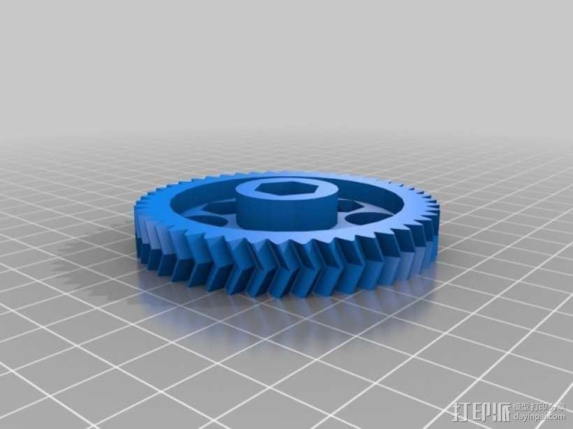 鱼骨齿轮 人字齿轮 3D模型  图12