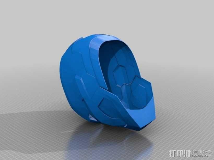 钢铁爱国者 头盔 3D模型  图1