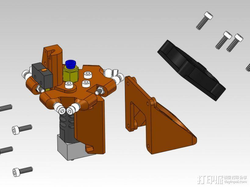 风扇支架 3D模型  图1