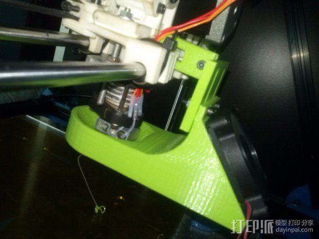 60毫米的风扇支架 3D模型  图1