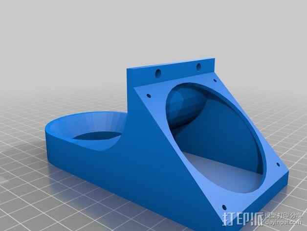 60毫米的风扇支架 3D模型  图4