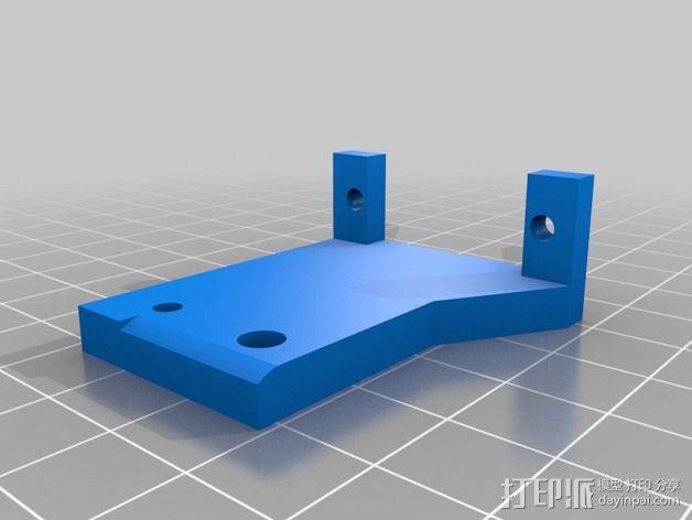 自动调平器的马达支架 3D模型  图2