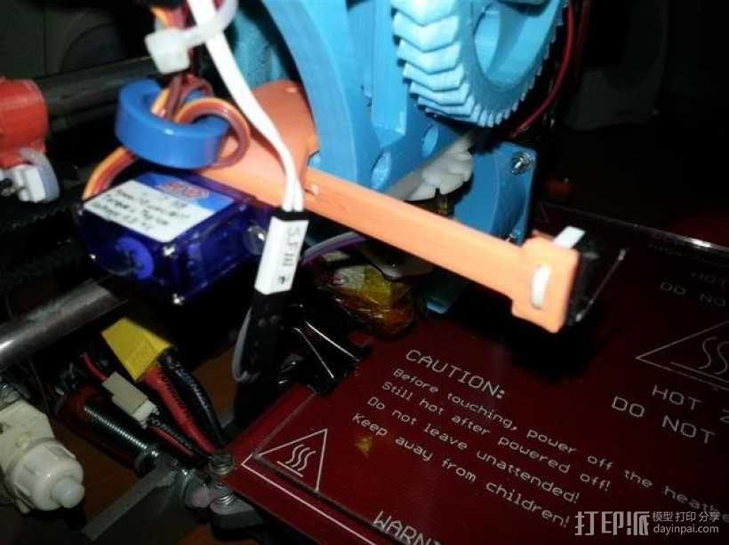 自动调平器的马达支架 3D模型  图1