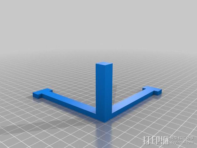 打印机XYZ轴校准器 3D模型  图2