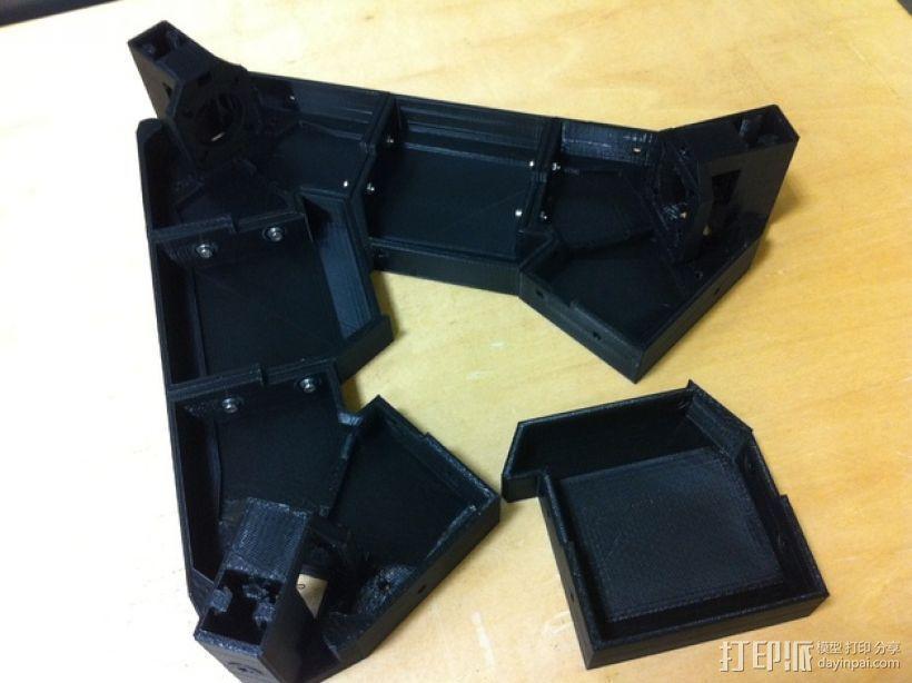 3DR delta式打印机延展器 3D模型  图1