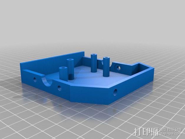 3DR delta式打印机延展器 3D模型  图5