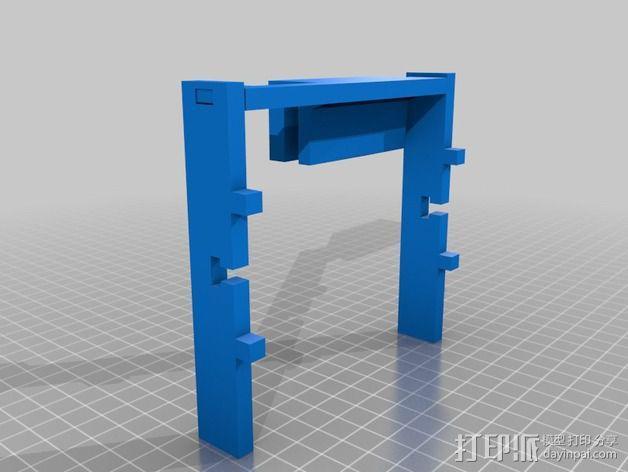 LCD显示屏支架 3D模型  图5