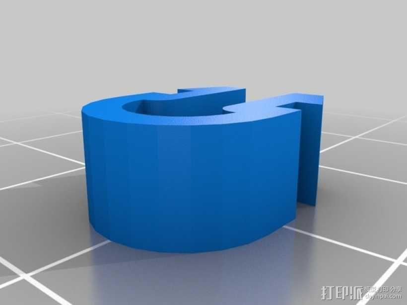电缆导轨 电缆夹 3D模型  图2
