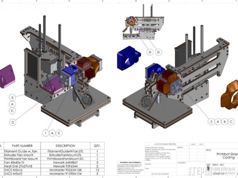 挤出机风扇 散热装置 3D模型  图1