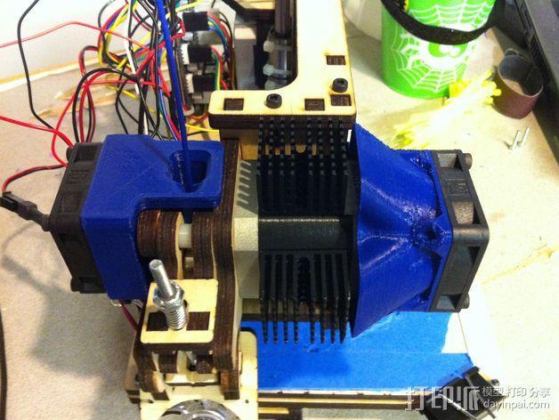 挤出机风扇 散热装置 3D模型  图2