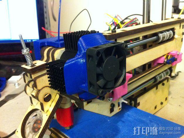挤出机风扇 散热装置 3D模型  图3