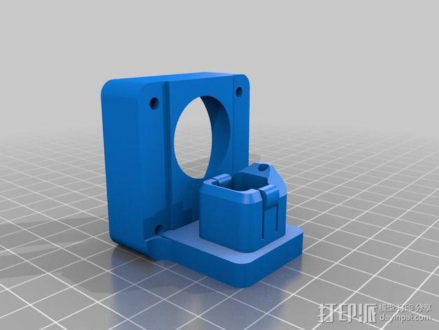 挤出机风扇 散热装置 3D模型  图5