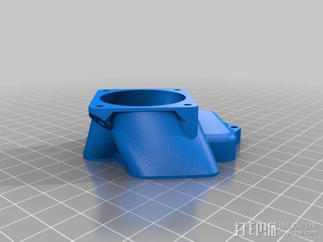 挤出机风扇 散热装置 3D模型  图6