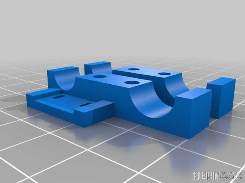 限位开关支架 3D模型  图4
