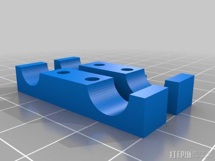 限位开关支架 3D模型  图5