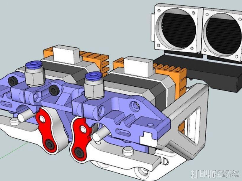 鲍登双挤出机 3D模型  图1