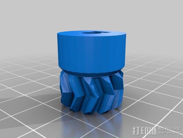 Wade's Extruder 挤出机的滚铣齿轮 3D模型  图3
