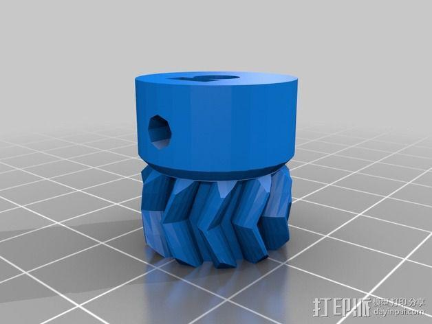 Wade's Extruder 挤出机的滚铣齿轮 3D模型  图2