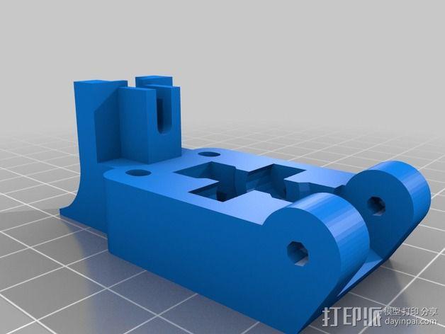 Wade's Extruder 挤出机的滚铣齿轮 3D模型  图4
