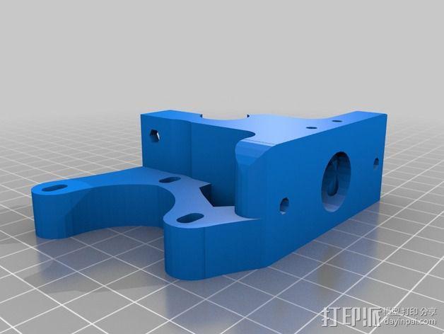 Wade's Extruder 挤出机的滚铣齿轮 3D模型  图6