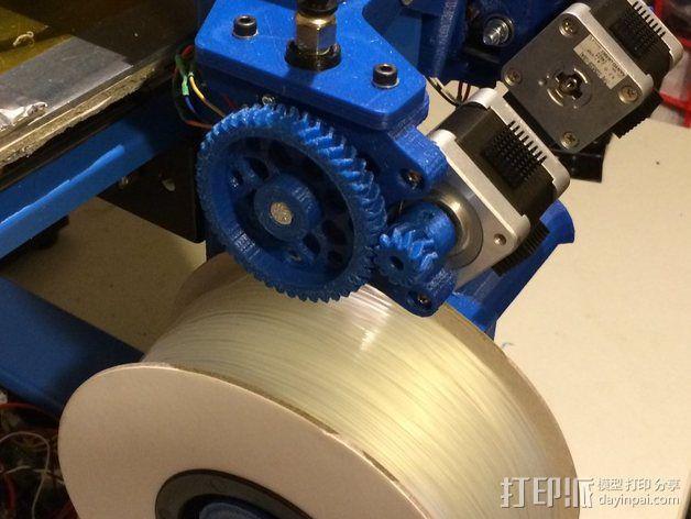 Wade's Extruder 挤出机的滚铣齿轮 3D模型  图8