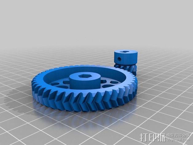 Wade's Extruder 挤出机的滚铣齿轮 3D模型  图7