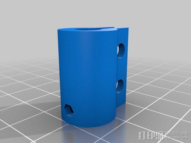 NEMA17 马达耦合器 3D模型  图2