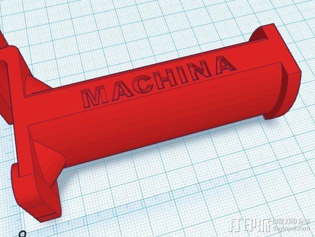 线材卷支架 线轴支架 3D模型  图2