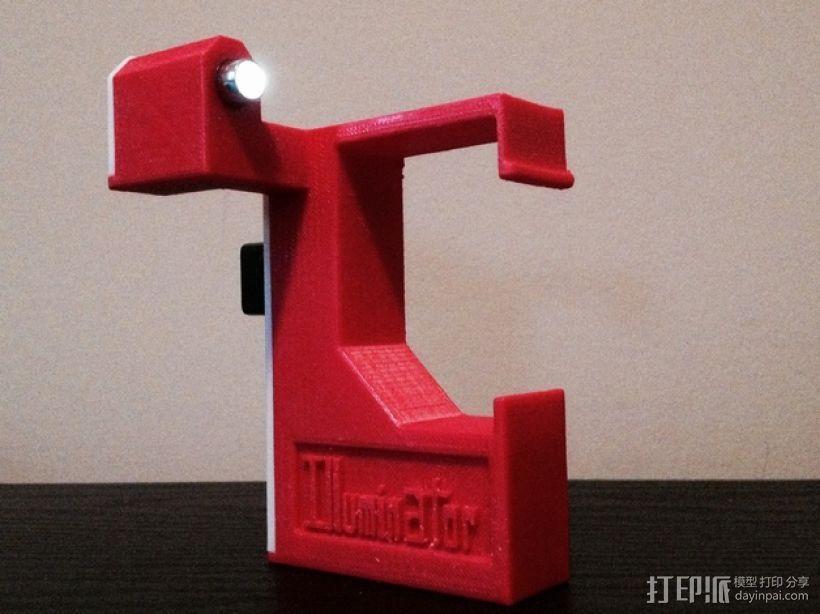 照明器支架 3D模型  图1