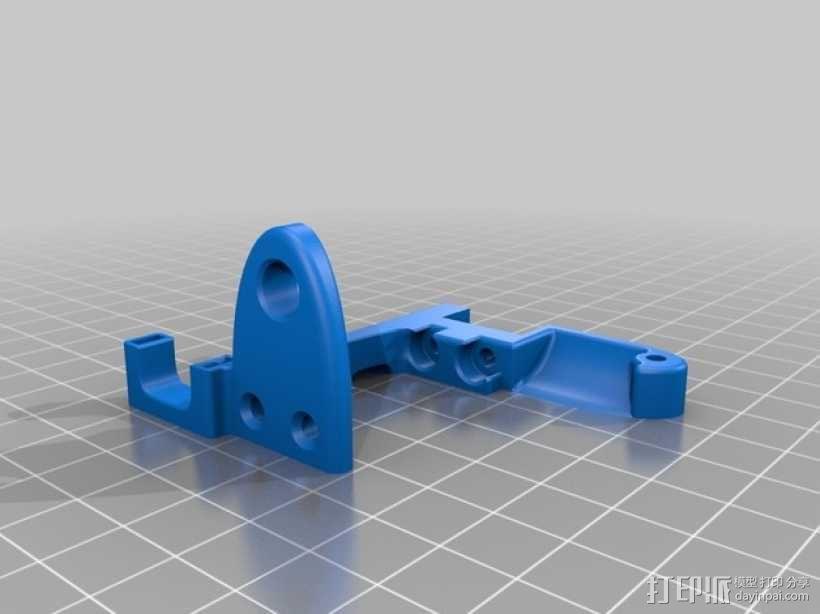 Replicator 2打印机配件 风扇固定器  3D模型  图2