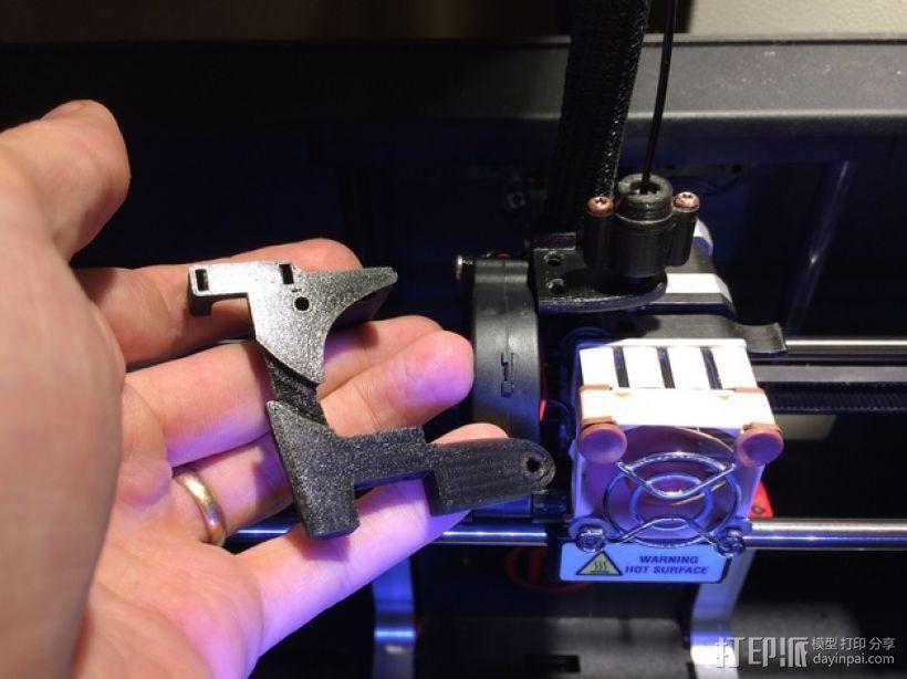 Replicator 2打印机配件 风扇固定器  3D模型  图3