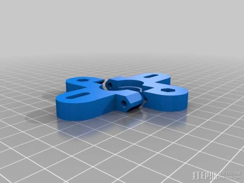 可旋转喷头支架 3D模型  图2