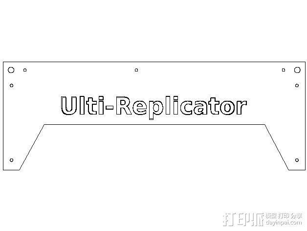 Ulti-Replicator打印机 3D模型  图12